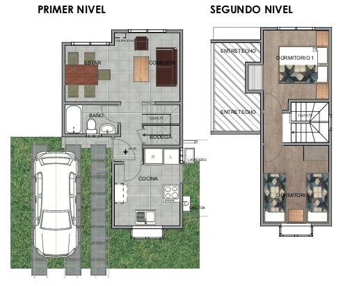modelo 3 casas del valle